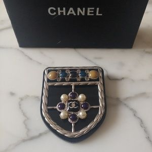 Chanel shield brooch / pin - rare and beautiful